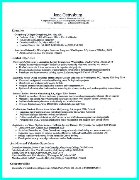 Year College Student Resume by Best College Student Resume Exle To Get Instantly