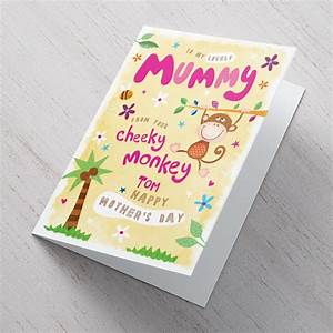 Personalised Mother's Day Card - From Your Cheeky Monkey ...