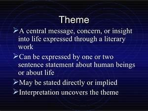 Literary Elements Theme