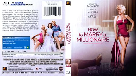 How To Marry A Millionaire  Movie Bluray Scanned Covers