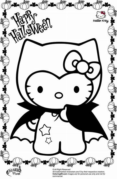 Halloween Coloring Pages Hello Kitty Vampire