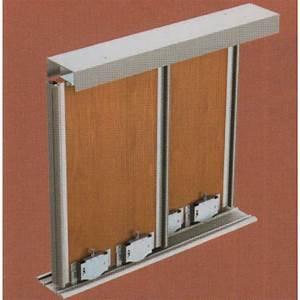 Rail De Placard : rail double haut pico star pour placard coulissant 55 kg ~ Premium-room.com Idées de Décoration