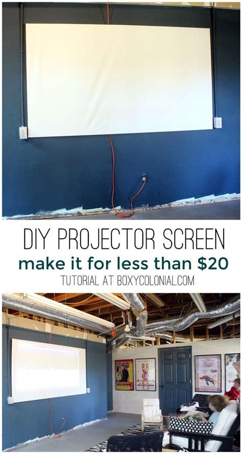 diy projector screen     home movies