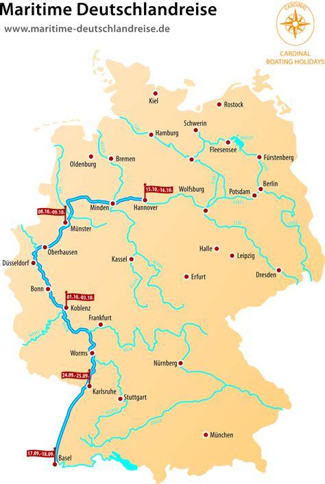 Deutschland Flüsse Karte