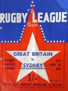 1962 Rugby League News Vol. 43, no. 10, Sydney v Great ...