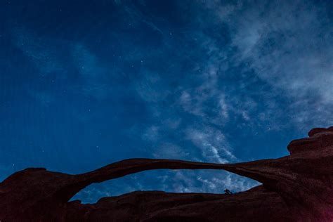 arches national park utah night photography  milky