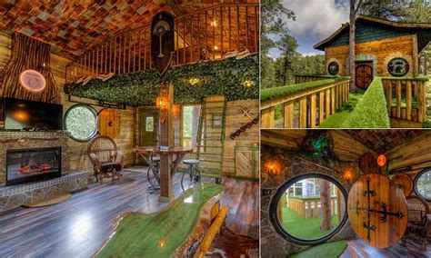 hobbit tree house rental  black hills south dakota wows lord   rings fans daily mail