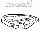 Coloring Pages Meat Printable Getcolorings sketch template