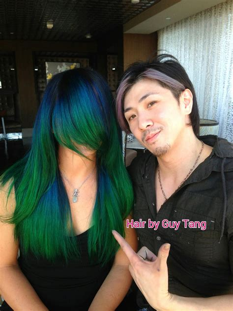 Blue And Green Ombre Creative Hair Color Blue Ombre