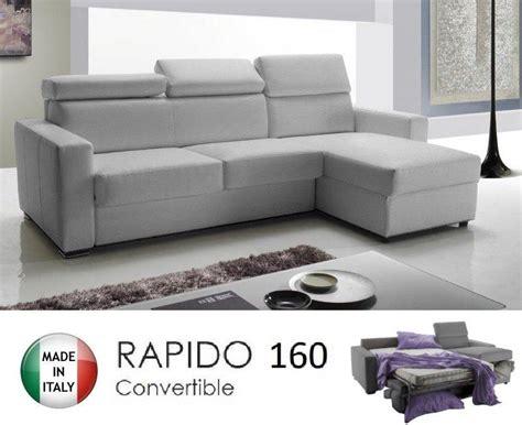 canapé d angle convertible avec vrai matelas canape d 39 angle reversible rapido sidney deluxe 160cm