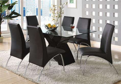 wailoa contemporary black casual dining set   shape