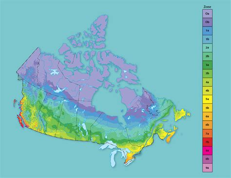 Canadian Plant Hardiness Zones  Grow Zones In Canada