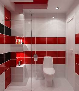 carrelage salle de bain rouge et noir With salle de bain rouge et blanche