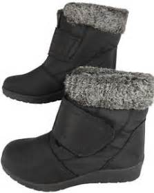 womens boots wide fit uk womens black wide fit fur lined winter warm ankle boots uk 3 8 ebay