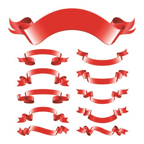different red ribbons design