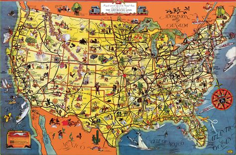 usa tourist map
