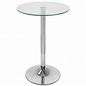 Table De Bar Ronde : table de bar vetro ronde monde du tabouret ~ Teatrodelosmanantiales.com Idées de Décoration