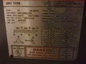 Reverse Wire Transfrmer 480v Delta To 120  208 Wye