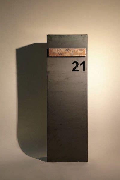 Briefkasten Modern Design by Freistehender Briefkasten Aus 3mm Corten Stahl