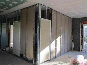 Poser Bloc Porte Entre 2 Murs : cloisons briques ou placo les deux notre maison bbc ~ Dailycaller-alerts.com Idées de Décoration