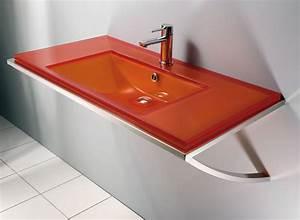 Vasque En Verre Salle De Bain : plan vasque salle de bain en verre ~ Edinachiropracticcenter.com Idées de Décoration