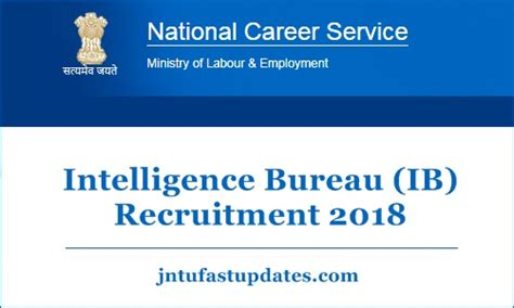 Ib Security Assistant Recruitment 2018  Apply Online 1054