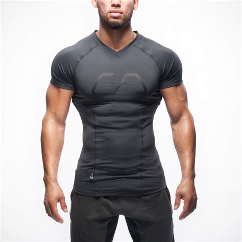 fit t shirt anthrazit aesthetics amazing workouts and sports tech