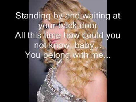 Taylor Swift - You Belong With Me Lyrics - YouTube