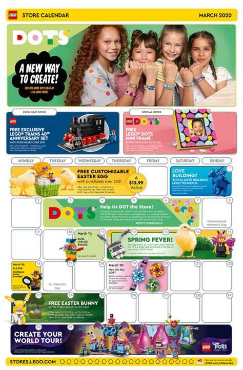Brickfinder - LEGO Brand Store Calendar March 2020 Promotions!