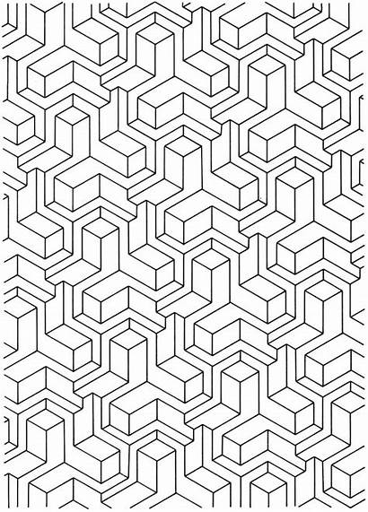 Coloring Pages Geometric Adult Pattern Dover Designs