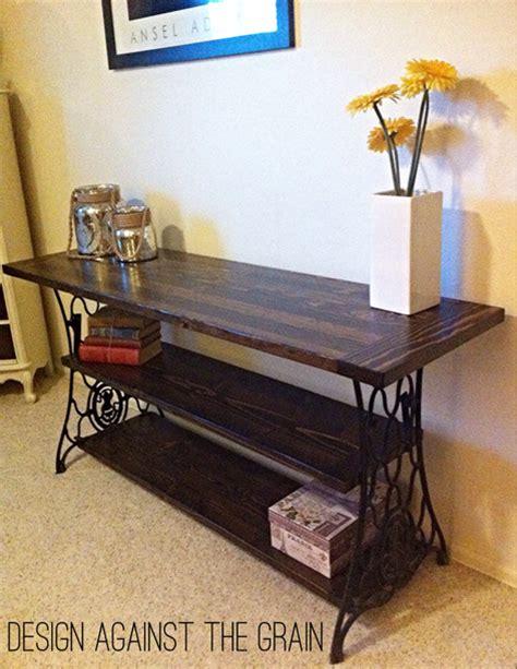 Lada Da Scrivania Design by Repurposed Console Table From Antique Cast Iron Sewing