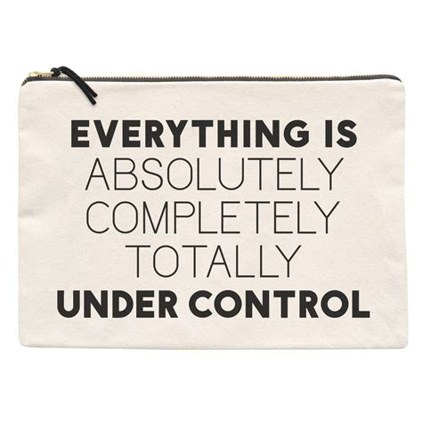 'under Control' Oversized Canvas Pouch By Alphabet Bags
