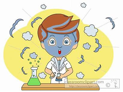 Experiment Wrong Science Gone Clipart Clip Cartoon