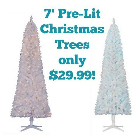 real christmas tree cost walmart walmart 7 pre lit artificial tree only 29 99 mylitter one deal at a time