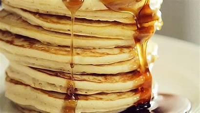 Syrup Breakfast Maple Gifs Pancake Honey Pancakes