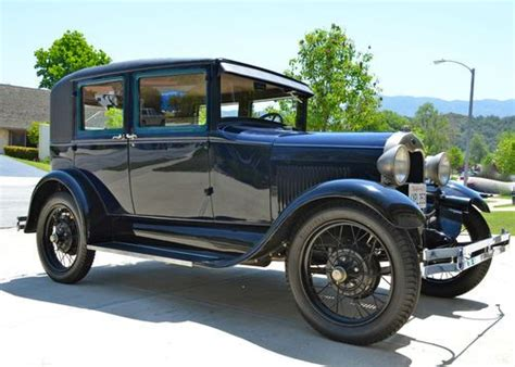 Sell Used 1929 Ford Model A Leatherback Fordor 60-b Body