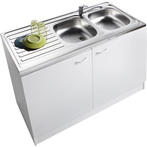 meuble de cuisine avec evier meuble de cuisine sous évier 2 portes blanc h86x l120x