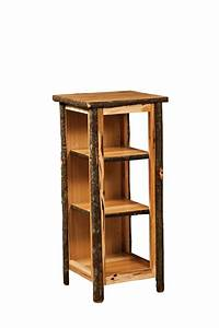 Hickory Bookcase End Table