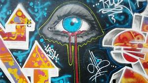 Paintings eyes blood graffiti artwork all seeing eye ...