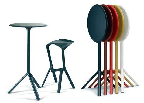 tavolo bar alto miura  plank nero   design