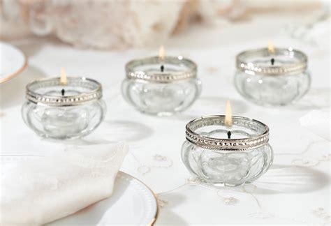 3998 tea light votives glass and silver tealight holders set of 4