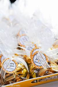 golden 50th wedding anniversary With 50 wedding anniversary party favors
