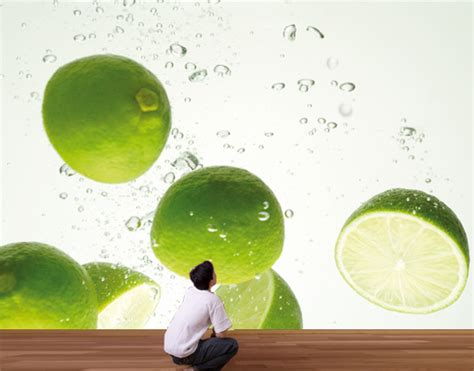 lime green kitchen wallpaper photo wall mural lime swim 400x280 wallpaper wall wall 7108