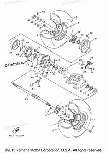 Yamaha Atv 2000 Oem Parts Diagram For Rear Wheel