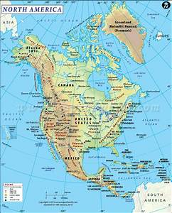 North America Map | Map of North America