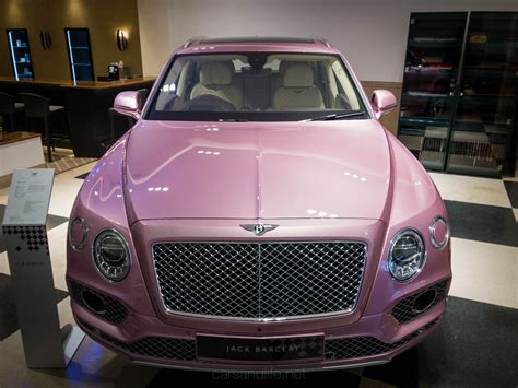 pink bentley pink bentley bentayga at jack barclay hr owen mayfair london