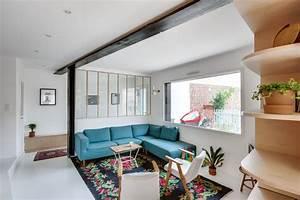 maison romainville 200 m2 decores pour une famille With tapis couloir avec faire son canapé d angle