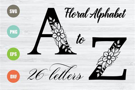floral alphabet svg  letters  svgs design bundles