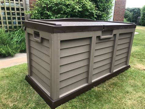 Xl Size Huge Garden Storage Box Chest Shed Waterproof