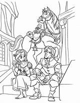 Coloring Disney Tangled Pages Print sketch template